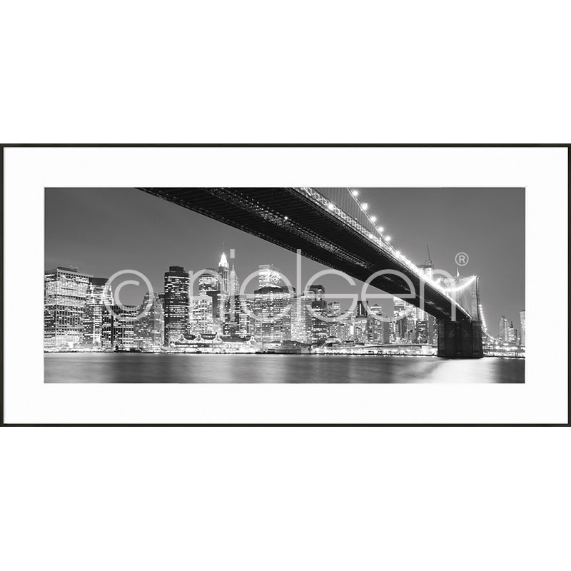 "Inramad bild ""Brooklyn Bridge"" med aluminiumram C2"