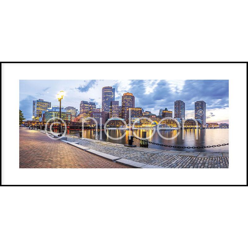 """Inramad bild """"Promenade"""" med aluminiumram C2"""