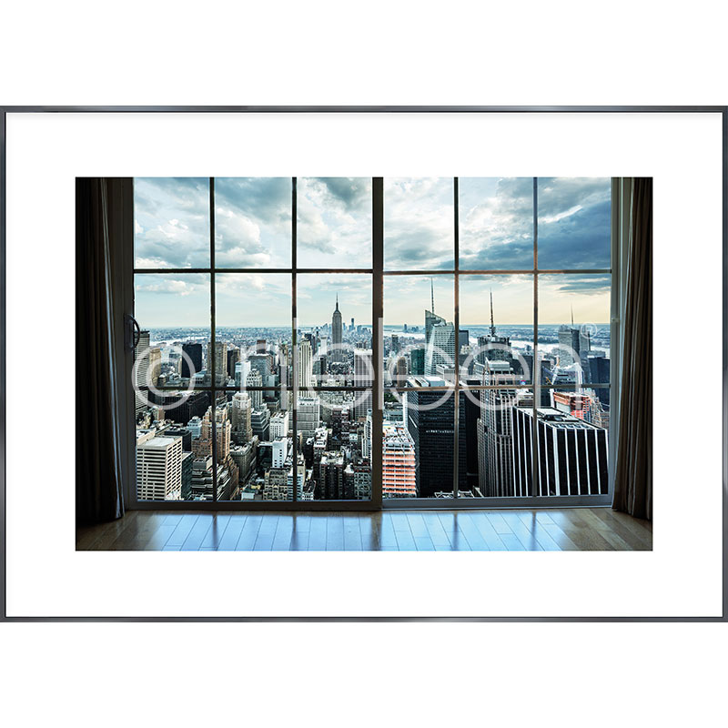 """Inramad bild """"Living Room"""" med aluminiumram Alpha"""