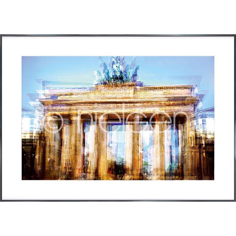 """Inramad bild """"Brandenburg Gate"""" med aluminiumram Alpha"""