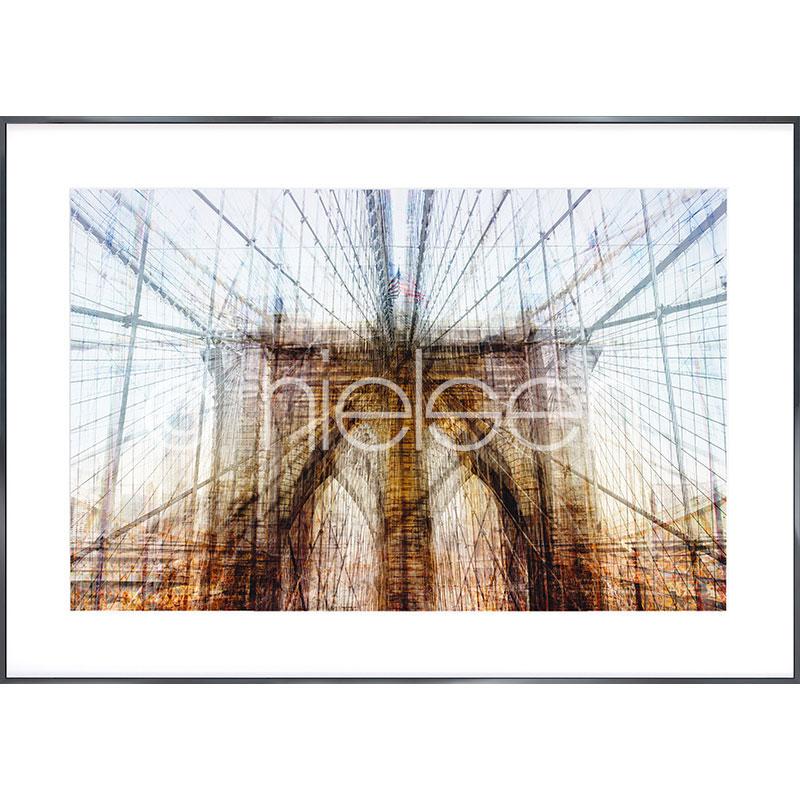 "Inramad bild ""Brooklyn Bridge"" med aluminiumram Alpha"