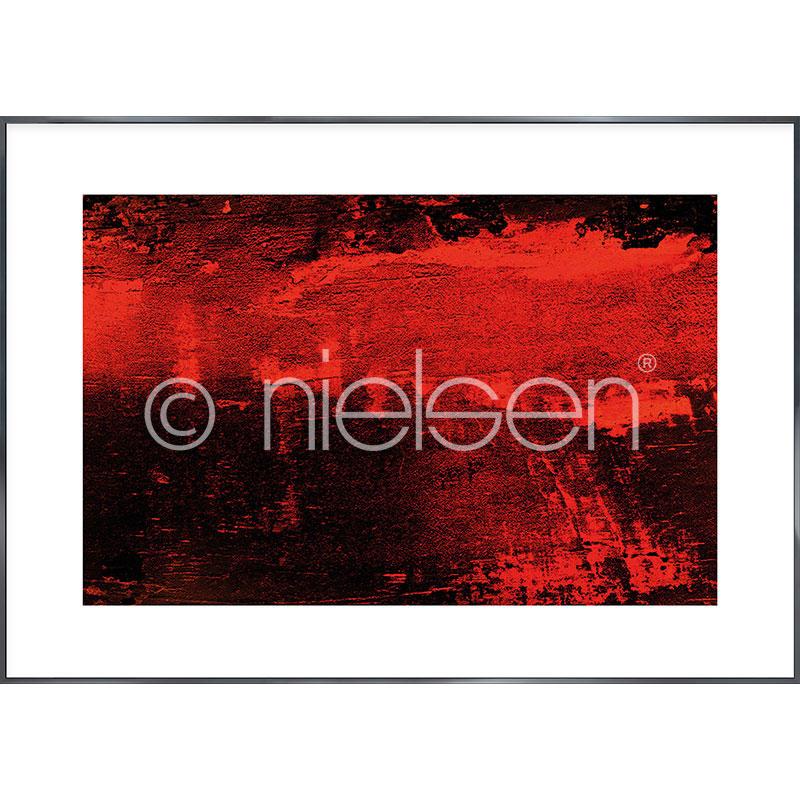"""Inramad bild """"Abstract red I"""" med aluminiumram Alpha"""