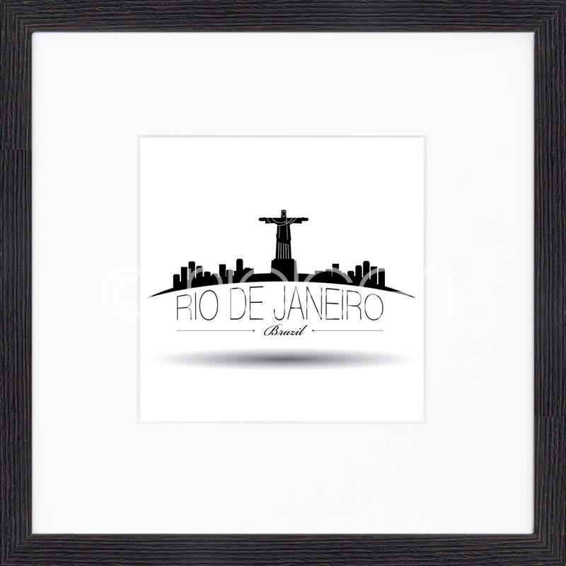 """Inramad bild """"Rio de Janeiro"""" med träram Quadrum"""