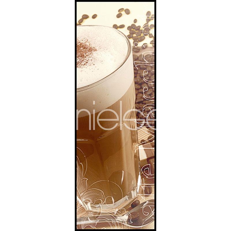 "Inramad bild ""Coffee Time"" med aluminiumram C2"