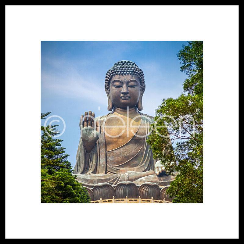 "Inramad bild ""Statue of Buddha"" med aluminiumram C2"