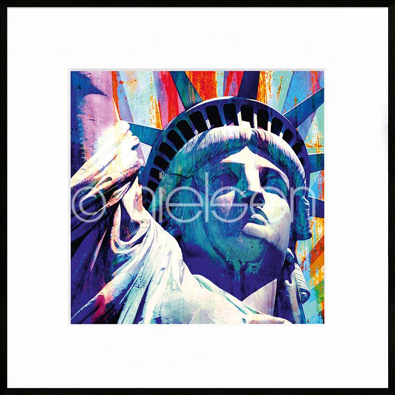 "Inramad bild ""Statue of Liberty"" med aluminiumram C2"