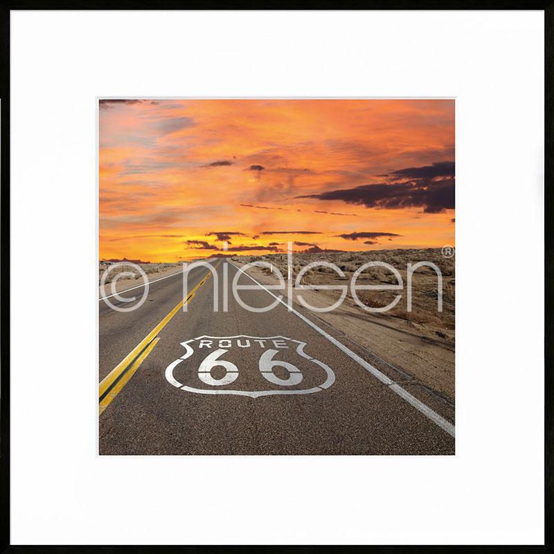 """Inramad bild """"Route 66"""" med aluminiumram C2"""