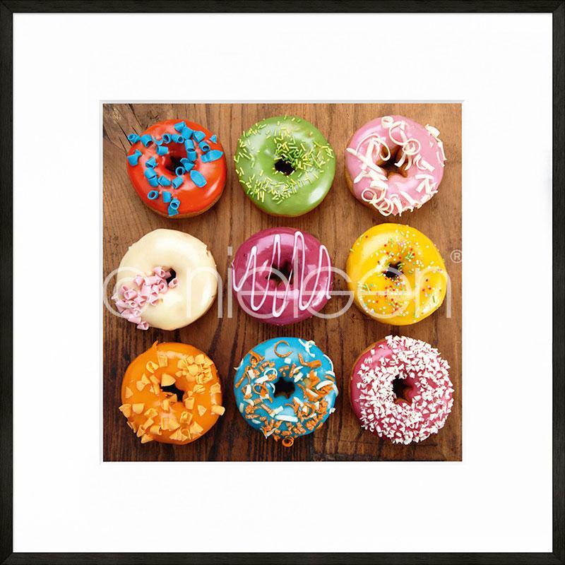 """Inramad bild """"Donuts"""" med aluminiumram C2"""