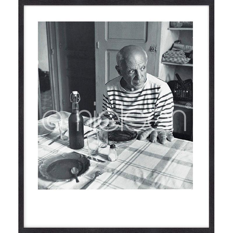 """Inramad bild """"Les pains de Picasso 1985"""" med träram Quadrum"""