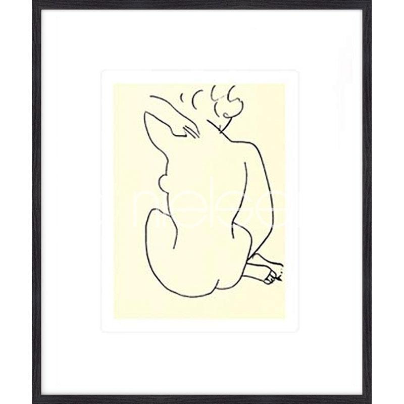 """Inramad bild """"Nu, 1949 con Matisse"""" med träram Quadrum"""