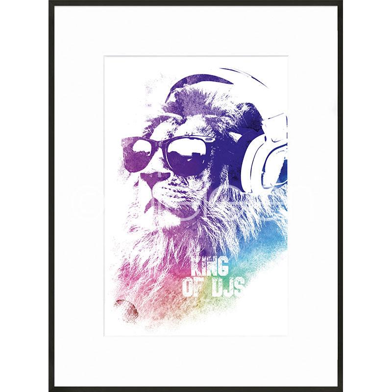 """Inramad bild """"King of DJs"""" med aluminiumram C2"""