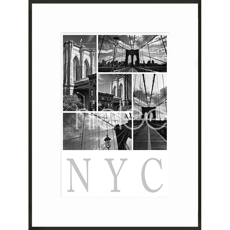 "Inramad bild ""New York City"" med aluminiumram C2"
