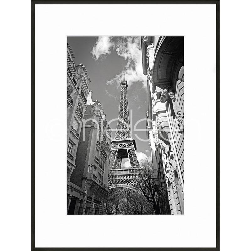 "Inramad bild ""Eiffel Tower"" med aluminiumram C2"