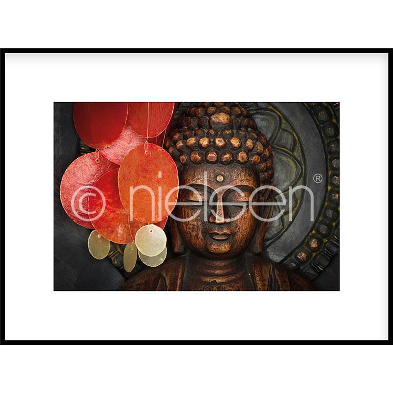 """Inramad bild """"Buddha"""" med aluminiumram C2"""