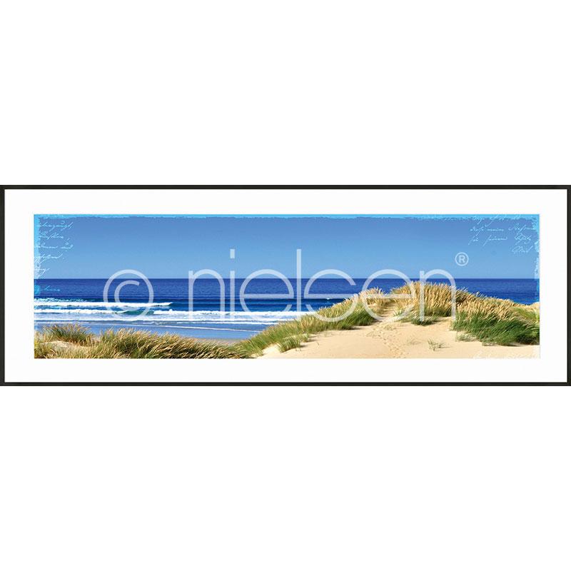 "Inramad bild ""Dune Ocean"" med aluminiumram C2"