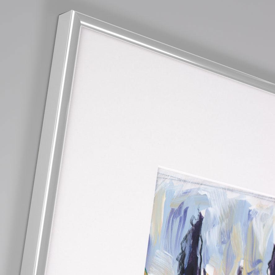 Aluminiumram profil R 21x29,7 cm (A4) | silver | Normalt glas