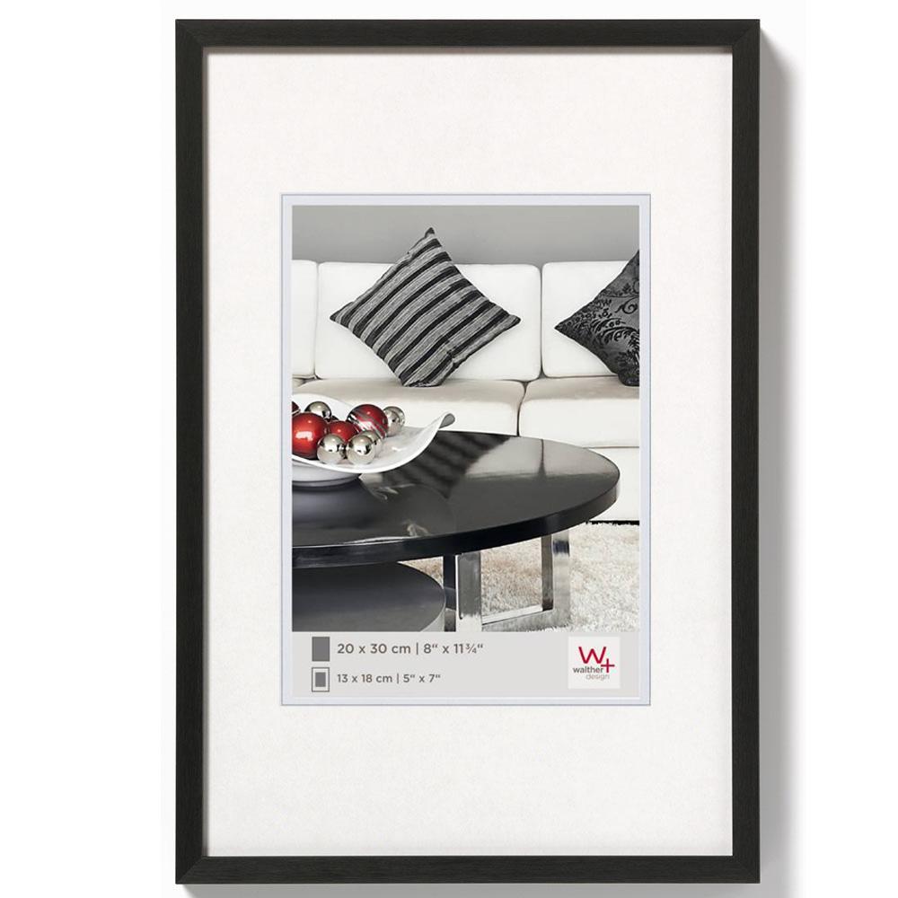Aluminiumram Chair 10x15 cm | svart | standardt glas