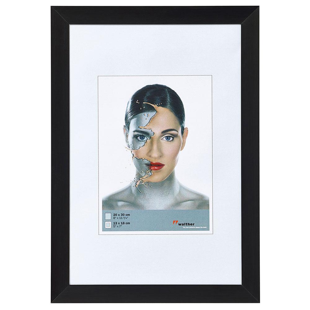 Aluminiumram Spacy 10x15 cm | svart | standardt glas