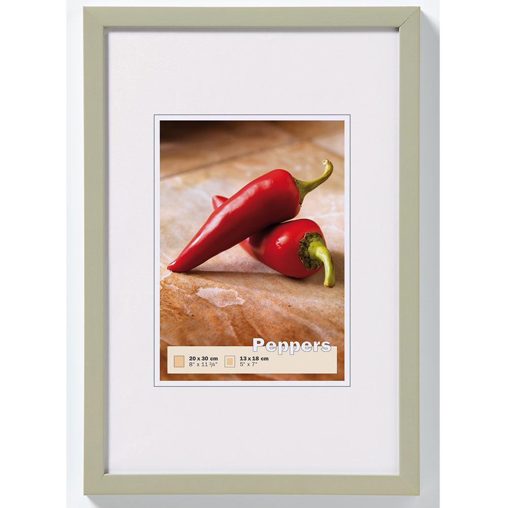 Träram Pepper 50x70 cm | grå | standardt glas