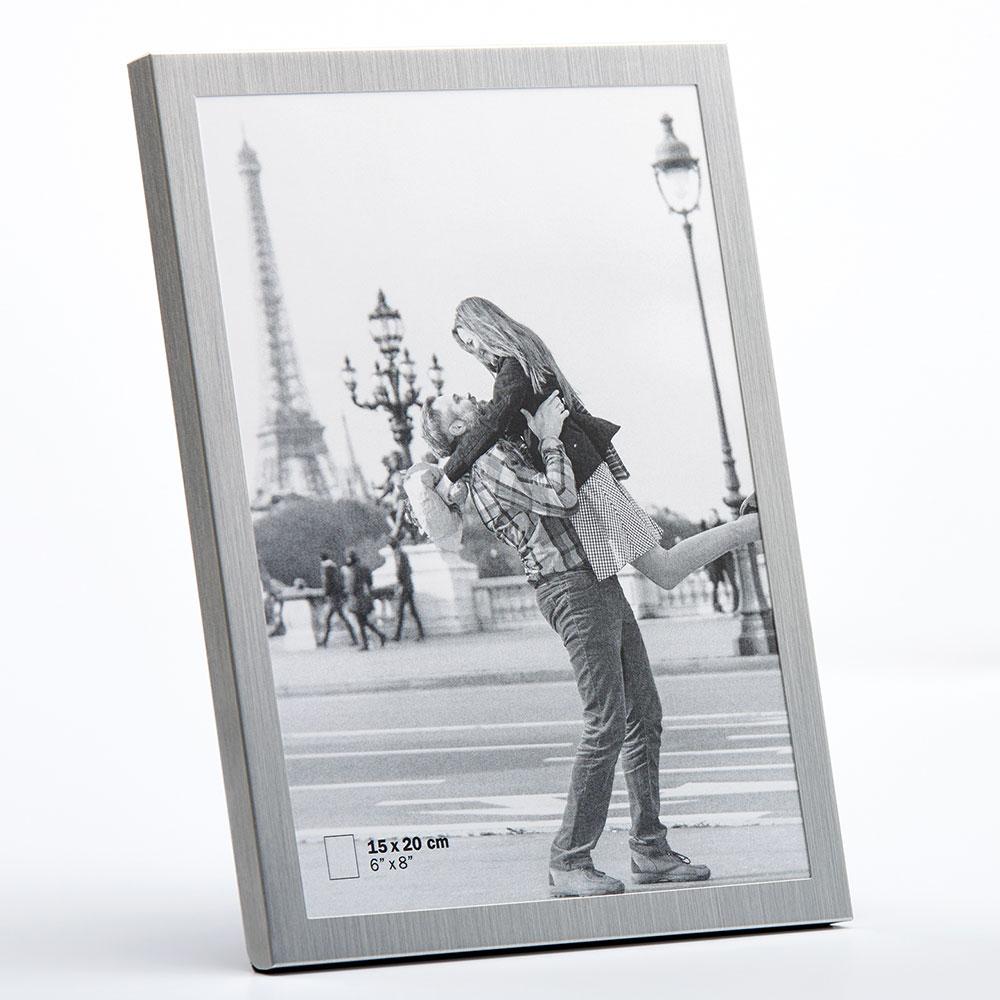 Metall-porträttram Karla 10x15 cm | silver | standardt glas