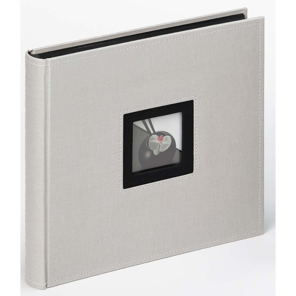 "Fotoalbum ""Black & White"" för limning, 26x25 cm 26x25 cm | grå"