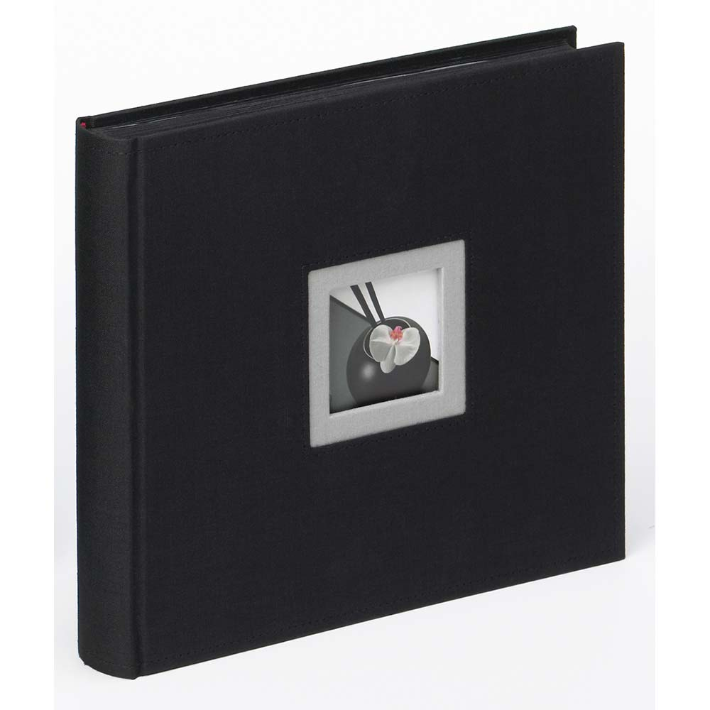 "Fotoalbum ""Black & White"" för limning, 26x25 cm 26x25 cm | svart"