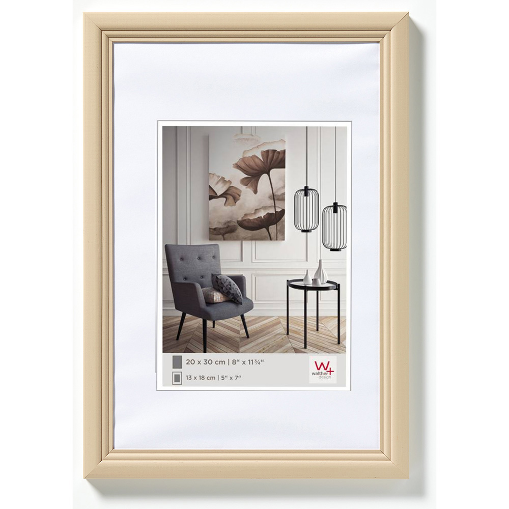 Träram Living 40x50 cm | cappuccino | standardt glas