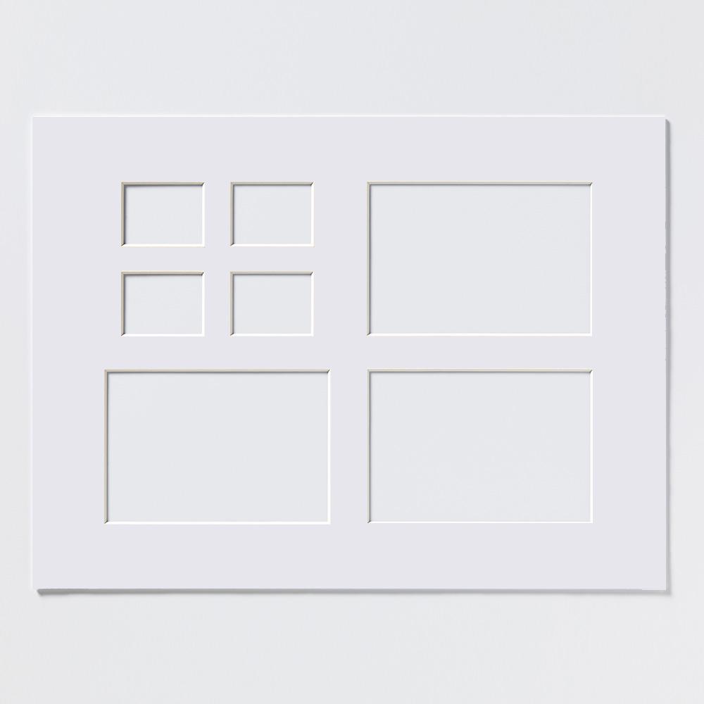 Multi-passepartouter 30x40 cm (5x7, 10x15 cm) | polarvit