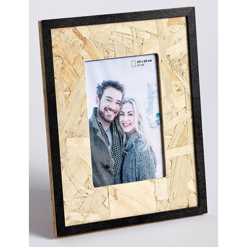 Fotoram av trä CHIP 10x15 cm | brun-svart | standardt glas