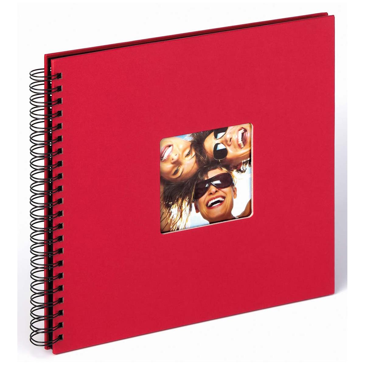 """Spiralalbum """"Fun"""" för limning, 30x30 cm 30x30 cm   röd"""