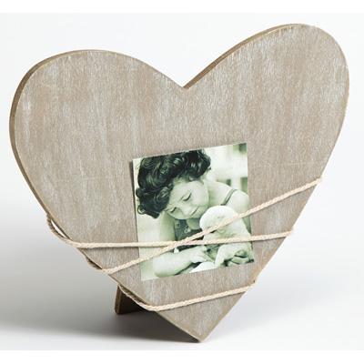 Porträttram Bella 2, hjärtformad grå variabel | grå | standardt glas